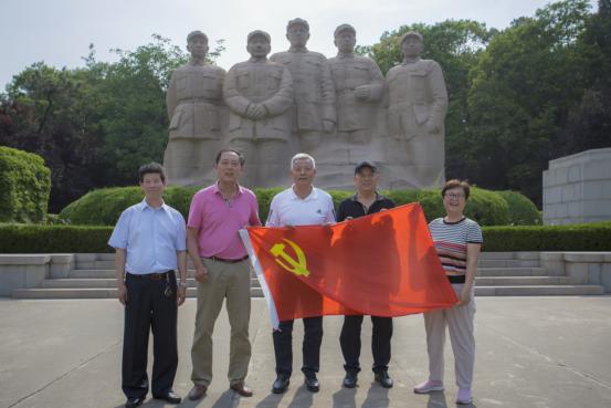 省老体协党支部在淮海战役纪念馆开展党建活动