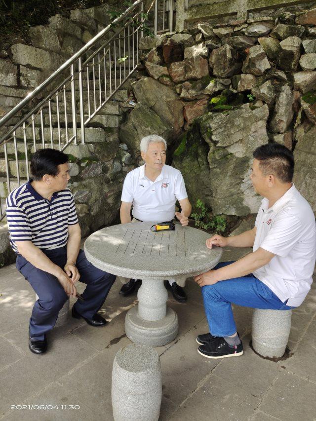 安徽省老体协主席冯潮、秘书长张兆明来繁昌进行调研