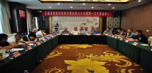 安徽省老体协篮球专项委员会正式成立